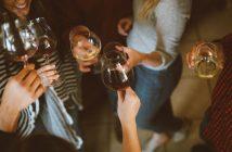 Group of people having drinks