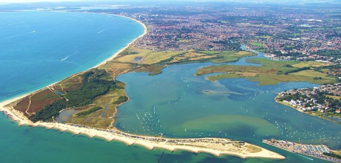 Aerial shot of Dorset
