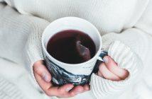 Woman holding a mug of tea