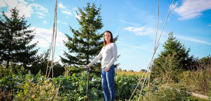 Woman in allotment