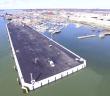 Poole harbour aerial shot