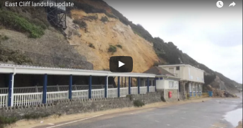 Bournemouth cliff top landslide