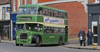 A Bristol FS6G double decker bus . New to Hants & Dorset in February 1961