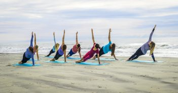 Yoga on the beach over 50s Bournemouth