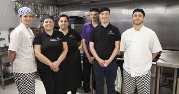 The catering team at Fairmile Grange