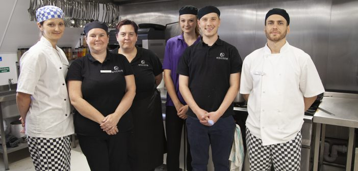 The catering team at Fairmile Grange