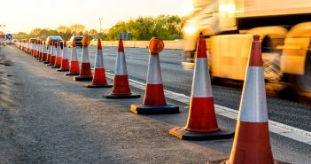 image of cones at roadworks