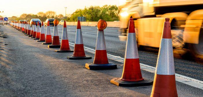 image of cones at roadworks
