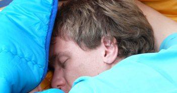 Man in sleeping bag