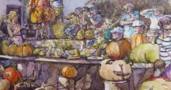 One of Barbara's pieces entitled Pumpkins