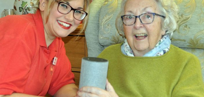Norma Richards of Colten Care's Newstone House in Dorset is one of many residents