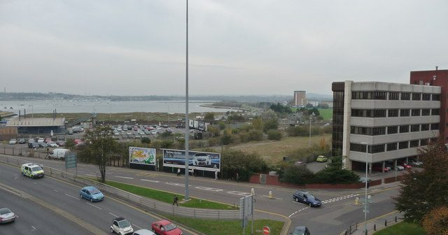 image of view over Towngate Bridge to Poole Harbour