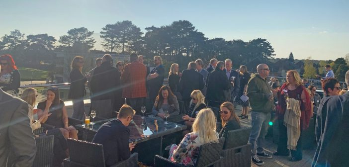 image of people at the AFC Bournemouth spring barbecue networking event