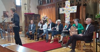 image of candidates at european parliament election open forum in branksome on 14 may