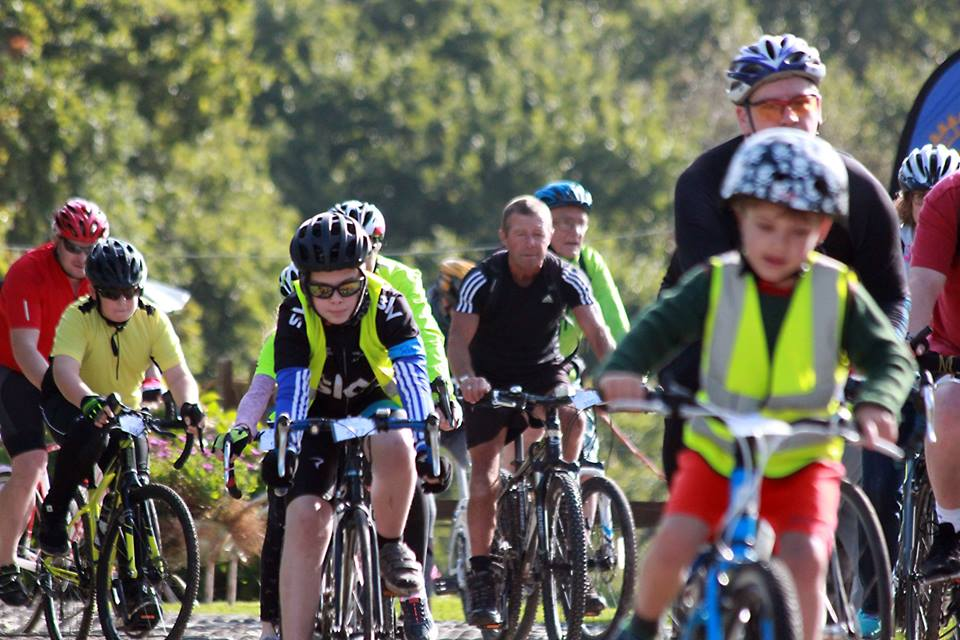 image of kids taking part in the charity bike ride