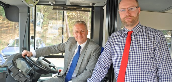 image of Dorset Chamber's Ian Girling and MoreBus's Adam Keen