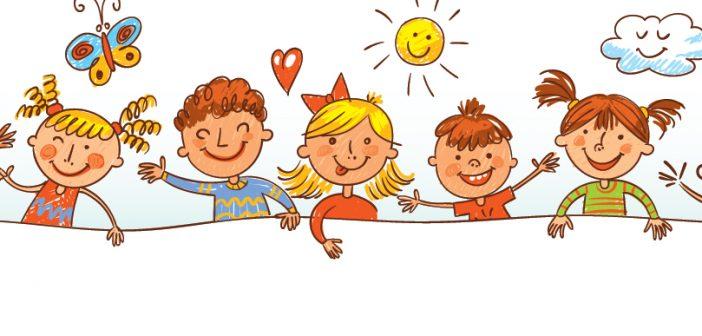 A cartoon of children