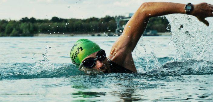 A man swimming
