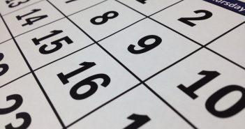 A photo of a calendar