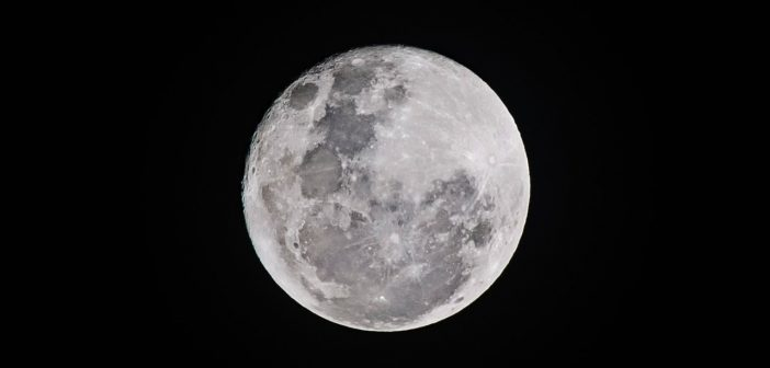 A photo of the moon
