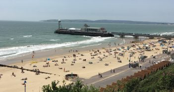 Image of Bournemouth beach from Russell Cotes Hill