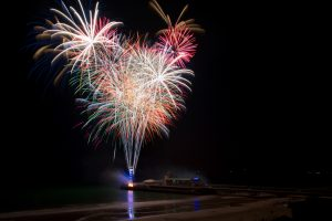Firework display at light up the prom