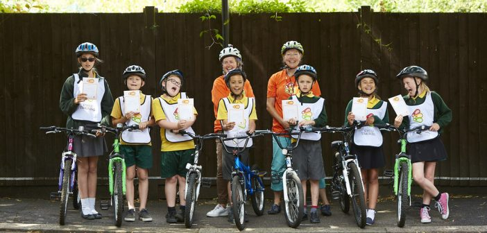 Bikeability training course for kids