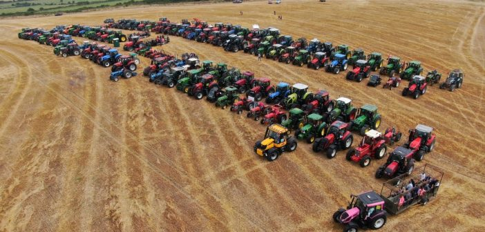 Aerial image of tractor run