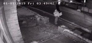CCTV of man stealing silent soldier