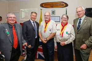 Tim Etches with Mayor Lesley Dedman and John Downer