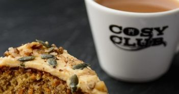 coffee and cake from cosy club