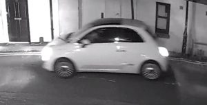 CCTV image of a Fiat 500 police are looking for in an appeal for witnesses