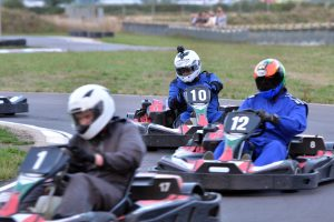 Members of the South Coast Kart Club race to win a spot on the podium