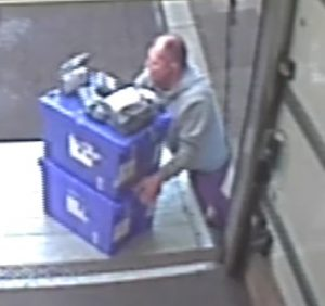 CCTV Image of the suspect in the investigation into the theft of mobile phones from a lorry