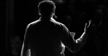 Man Performing on stage amateur dramatics