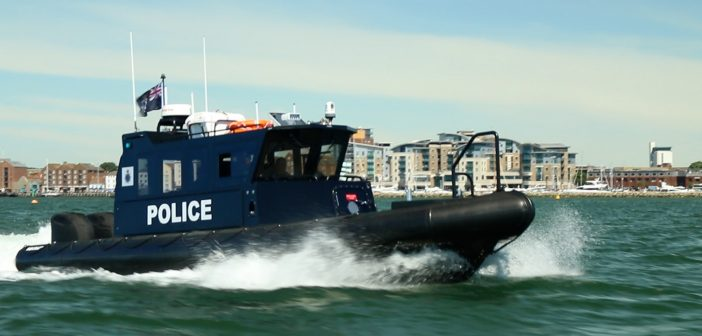 Police Boat Baccaneer in Poole Harbour